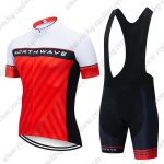 2019 Team NORTHWAVE NW Biking Clothing Set Riding Padding Bib Kit White Red