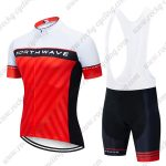 2019 Team NORTHWAVE NW Biking Outfit Set Riding Bib Kit White Red