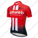 2019 Team Sunweb Cycling Clothing Riding Top Jersey Shirt Red Black