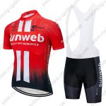 2019 Team Sunweb Cycling Clothing Set Riding Bib Kit Red Black