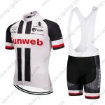 2019 Team Sunweb Cycling Clothing Set Riding Bib Kit White Black Red