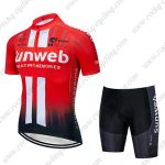 2019 Team Sunweb Cycling Clothing Set Riding Padded Kit Red Black