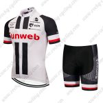 2019 Team Sunweb Cycling Clothing Set Riding Padded Kit White Black Red