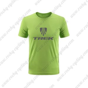 2019 Team TREK Biking Wear Cycling T-Shirt Round Neck Short Sleeves Green