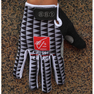 2010 Team CAISSE D'EPARGNE Winter Cycling Thermal Fleece Gloves