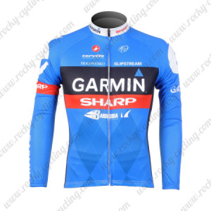 2012 Team GARMIN SHARP Cycling Long Sleeve Jersey Blue