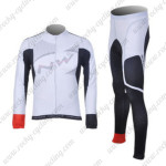 2012 Team NW Northwave Cycling Long Kit White Grey