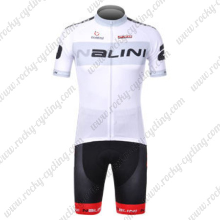2012 Team Nalini Riding Wear Biking Jersey and Padded Shorts White ... 9fb235448