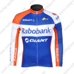 2012 Team Rabobank Cycling Long Sleeve Jersey Blue