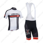 2013 Team Castelli Pro Cycling Bib Kit White and Black
