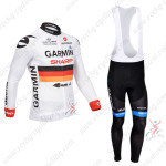 2013 Team GARMIN Cycling Long Bib Kit White
