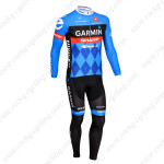 2013 Team GARMIN Pro Cycle Long Kit Blue