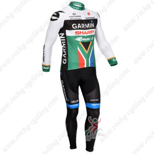 2013 Team GARMIN SHARP South African Champion Cycle Long Kit Colorful