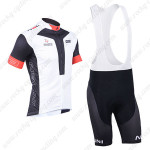 2013 Team NALINI Cycling Bib Kit White Black