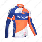 2013 Team RABOBANK Cycling Long Sleeve Jersey Orange Blue