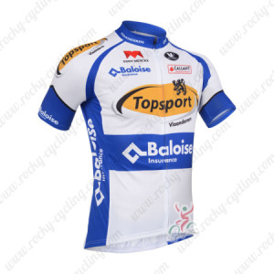 2013 Team Topsport Cycling Jersey White Blue