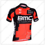 2014 Team BMC Cycling Jersey Red Black