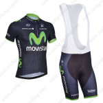 2014 Team Movistar Cycling Bib Kit Dark Blue