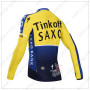 2014 Team SAXO BANK Bicycle Long Jersey Yellow Blue