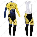 2014 Team SAXO BANK Cycling Long Bib Kit Yellow Blue