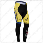 2014 Team SAXO BANK Cycling Long Pants Yellow Blue