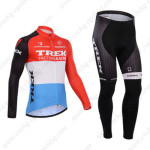 2014 Team TREK Cycling Long Kit Red Blue