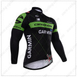 2015 Team GARMIN cannondale Cycling Long Jersey Black Green