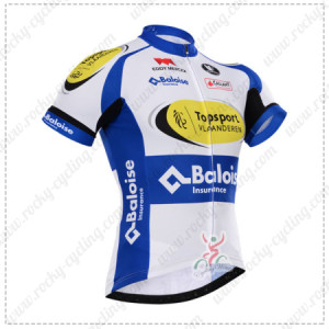 2015 Team Topsport Cycling Jersey White Blue Yellow