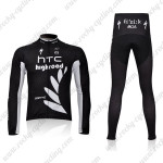 2011 HTC Highroad Cycling Long Kit Black