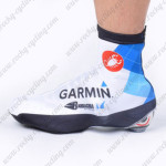 2012 Team GARMIN Cycling Shoes Covers White Blue