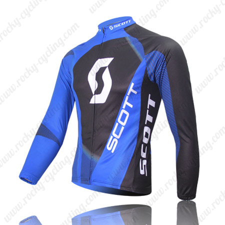 f6787e783 2013 Team SCOTT Cycle Wear Riding Long Sleeves Jersey Maillot Blue ...