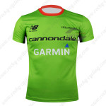 2015 Team Cannondale GARMIN Riding Outdoor Sport Clothing Sweatshirt Round Neck T-shirt Green