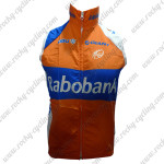 2012 Team Rabobank Cycling Vest Sleeveless Waistcoat Rain-proof Windbreak Orange Blue