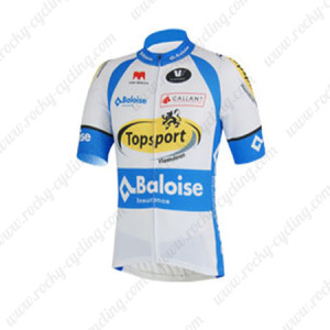 2013 Team Topsport Baloise Cycling Jersey White Blue