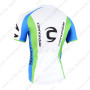 2015 Team GARMIN Cannondale Bicycle Jersey White Green Blue