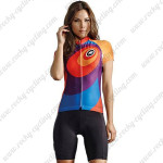 2015 Team ASSOS Women's Cycling Kit Blue Purple Orange
