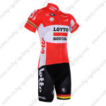 2016 Team LOTTO SOUDAL Cycling Kit Red
