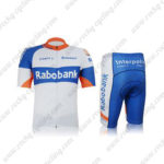 2012 Team Rabobank Cycling Kit White Blue