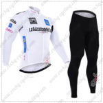 2016 GIRO O'Italia LaGazzettadello Sport Cycling Long Suit White