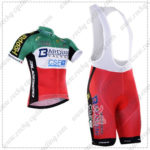 2016 Team BARDIANI CSF Cycling Bib Kit Green Red