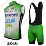2016 Team BARDIANI CSF Racing Sleeveless Vest Bib Kit Green