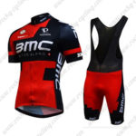 2016 Team BMC Riding Bib Set Red Black