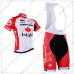 2016 Team Cervelo Bigla Cycling Bib Kit White Red