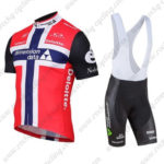 2016 Team Dimension data Deloitte Norway Riding Bib Kit Red