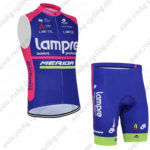 2016 Team Lampre MERIDA Cycling Sleeveless Vest Kit Blue