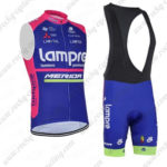 2016 Team Lampre MERIDA Riding Sleeveless Vest Bib Kit Blue