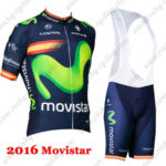 2016 Team Movistar Spain Riding Bib Kit Blue