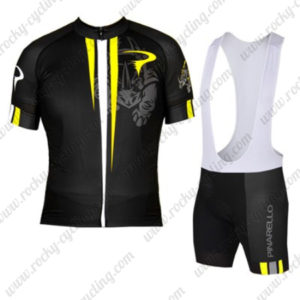2016 Team PINARELLO Riding Bib Kit Black Yellow