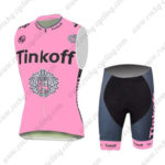 2016 Team Tinkoff Cycling Sleeveless Vest Kit Pink