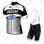 2016 Team etixxl QUICK STEP Cycling Bib Kit White Black